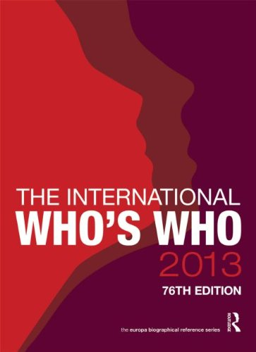 The International Who s Who 2013 (Hardback)