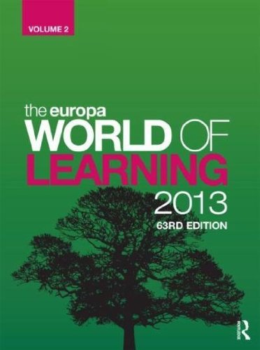 9781857436679: Europa World Of Learning 2013 63RD Edition A-M