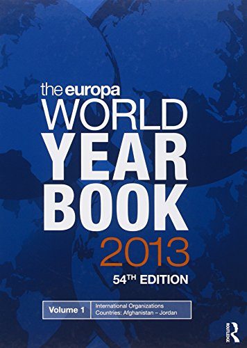 9781857436792: The Europa World Year Book 2013