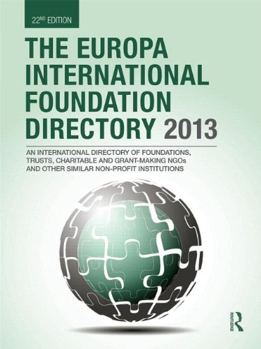 9781857436815: The Europa International Foundation Directory 2013