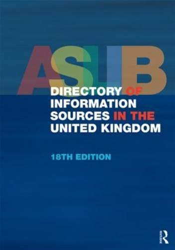 9781857437423: ASLIB Directory of Information Sources in the United Kingdom
