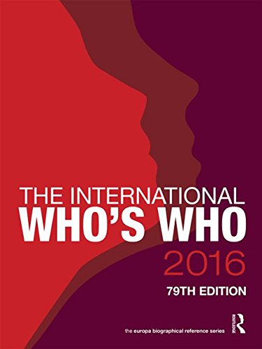 The International Who's Who 2016: Routledge