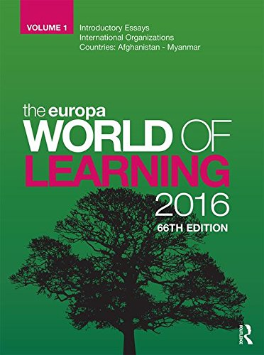 The Europa World of Learning 2016: Europa Publications
