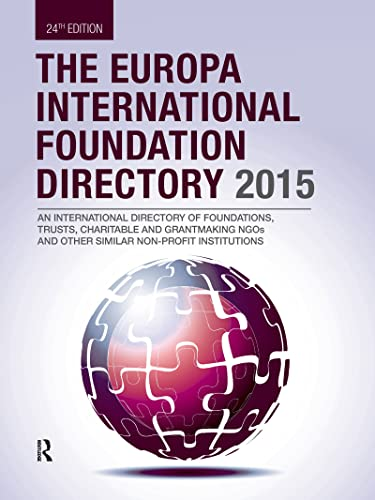 9781857437768: The Europa International Foundation Directory 2015