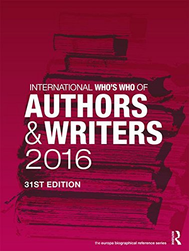 International Who's Who of Authors and Writers 2016: Europa Publications