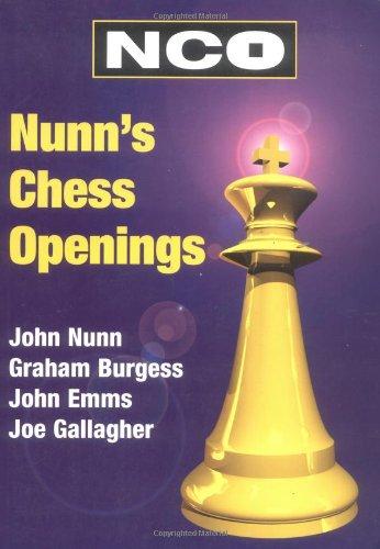 Nunn's Chess Openings (Everyman Chess Series): John Nunn, Joe