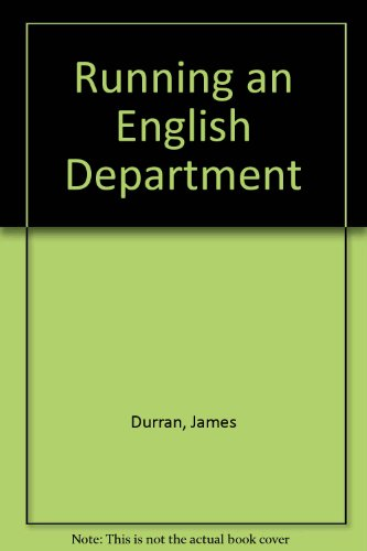 9781857494662: Running an English Department