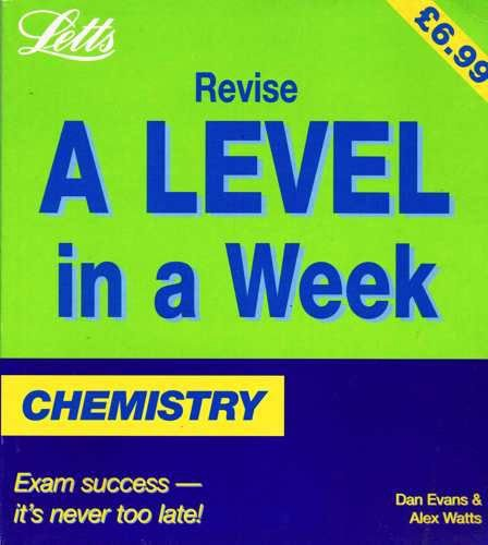 9781857589276: Chemistry (Revise A-level in a Week)