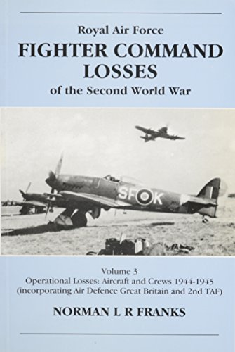 9781857800937: Royal Air Force Fighter Command Losses of the Second World War, Vol. 3: 1944-1945