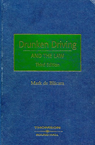 9781858002873: Drunken Driving and the Law