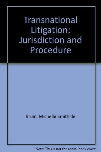 9781858004907: Transnational Litigation: Jurisdiction and Procedure