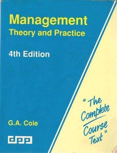 9781858050188: Management: Theory and Practice (Complete Course Texts)