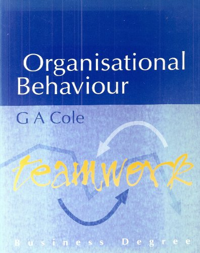 9781858051352: Organisational Behaviour (Business Degree)