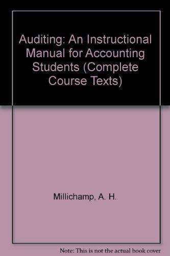 9781858051635: Auditing: An Instructional Manual For Accounting