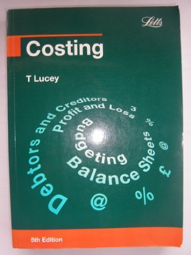 Costing (Complete Course Texts): Lucey, T.