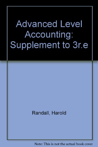 9781858052397: Advanced Level Accounting: Supplement to 3r.e