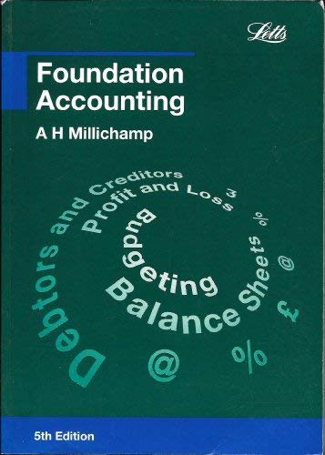 Foundation Accounting (Accounting Textbooks): Millichamp, Alan H.
