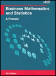 9781858053691: Business Mathematics and Statistics (Business Textbooks)