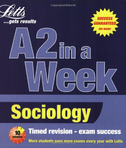 9781858059211: Sociology (Revise A2 in a Week)