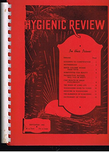 9781858105475: Hygienic Review: September 1942-August 1943 v. 4