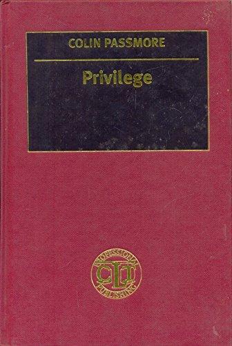 9781858110783: Privilege