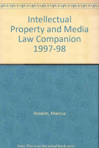 9781858111186: Intellectual Property and Media Law Companion 1997-98