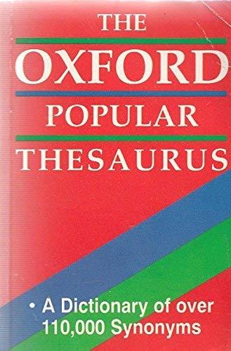 9781858135342: Oxford Thesaurus (Dictionaries)