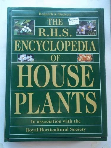 RHS Encyclopedia Of Houseplants By Royal Horticultural