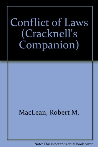 9781858360355: Conflict of Laws (Cracknell's Companion)