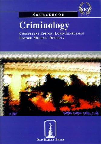 9781858363325: Criminology: Sourcebook