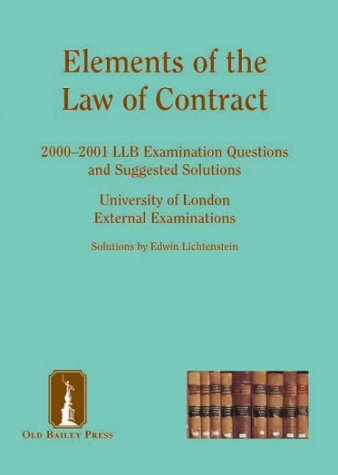 9781858363905: Contract Law: LLB Examination Questions Suggested Solutions, 1998-1999 (Suggested Solutions: The Series)