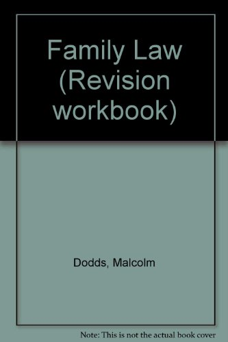 9781858365527: Family Law (Revision workbook)