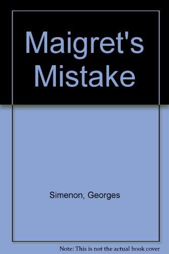 9781858481333: Maigret's Mistake