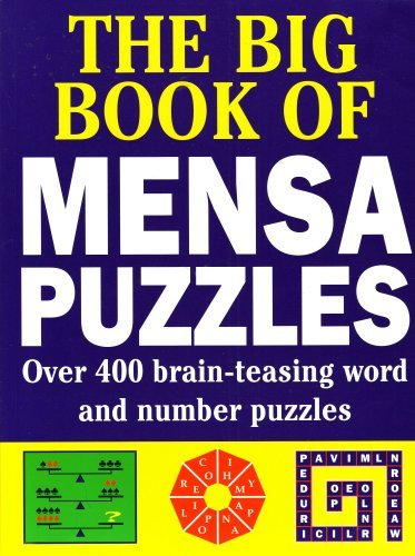 9781858681948: The Big Book of Mensa Puzzles: Over 400 brain-teasing word and number puzzles