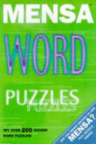 9781858683089: Mensa Word Puzzles (Mensa adult titles)