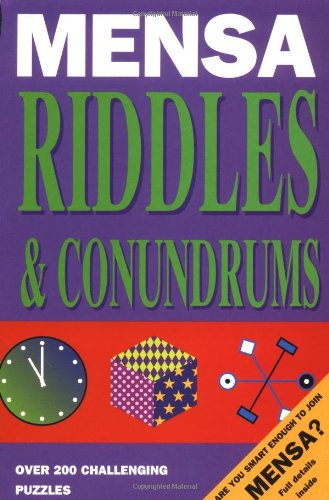 9781858683102: Mensa Riddles and Conundrums (Mensa adult titles)