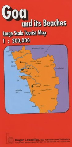 Goa and Its Beaches: Tourist Map (Red Cover): Roger Lascelles