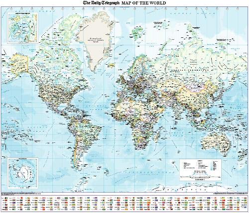 9781858797199: The Daily Telegraph Wall Map of the World