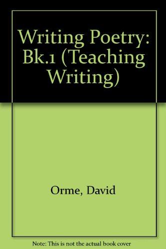 9781858809021: Writing Poetry: Bk.1 (Teaching Writing S.)