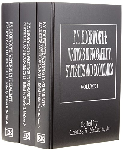 F.Y. Edgeworth Writings in Probability, Statistics and Economics: McCann, Charles Robert