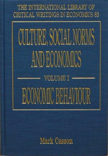 Culture, Social Norms and Economics (Hardback)