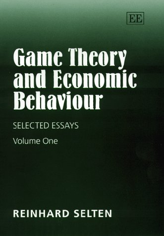 9781858988726: Game Theory and Economic Behaviour: Selected Essays