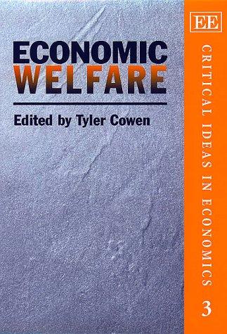 Economic Welfare: Cowen, Tyler (EDT)