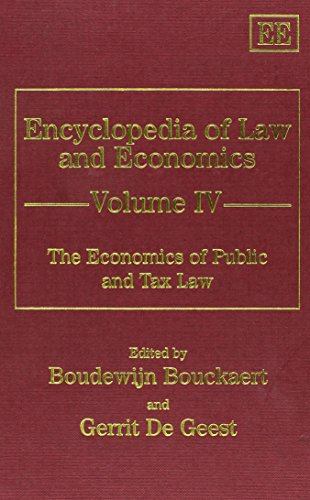 Economics of Public and Tax Law: Bouckaert, Boudewijn/ De Geest, Gerrit