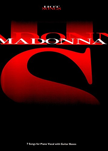 madonna hot songs piano vocal guitar