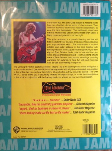 9781859094891: Jam with Brian Setzer: Guitar Tablature