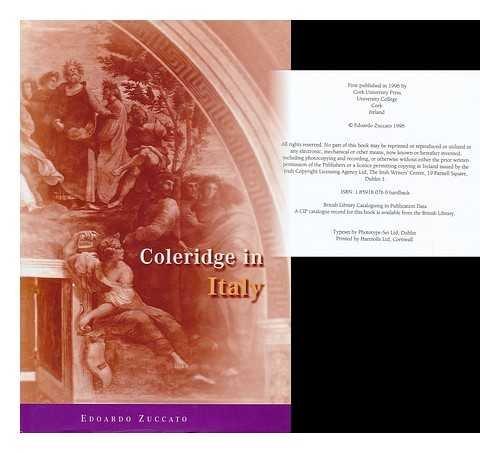 Coleridge in Italy (Hardback): Edoardo Zuccato
