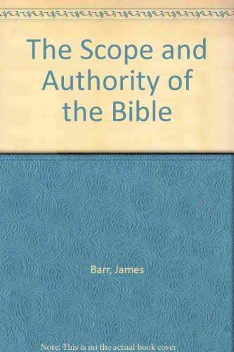9781859310106: The Scope and Authority of the Bible