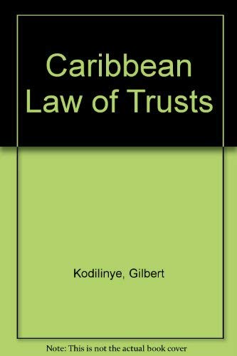 9781859410462: Caribbean Law of Trusts
