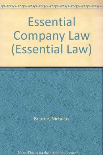 9781859411261: Essential Company Law (Essential Law)